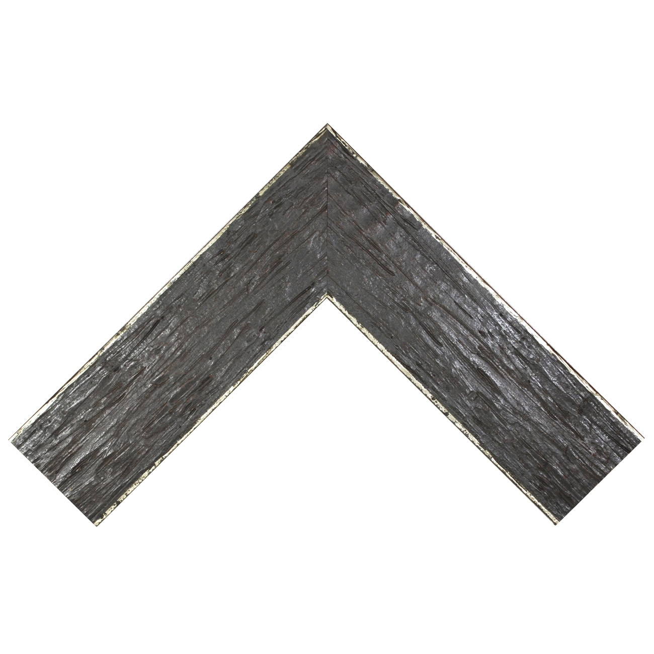 Baguette bois profil plat largeur 9.6cm couleur moka filet argent chaud sur les bords antique