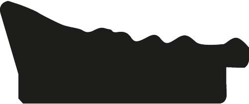Baguette bois profil incurvé largeur 7.5cm couleur or tonique effet pli