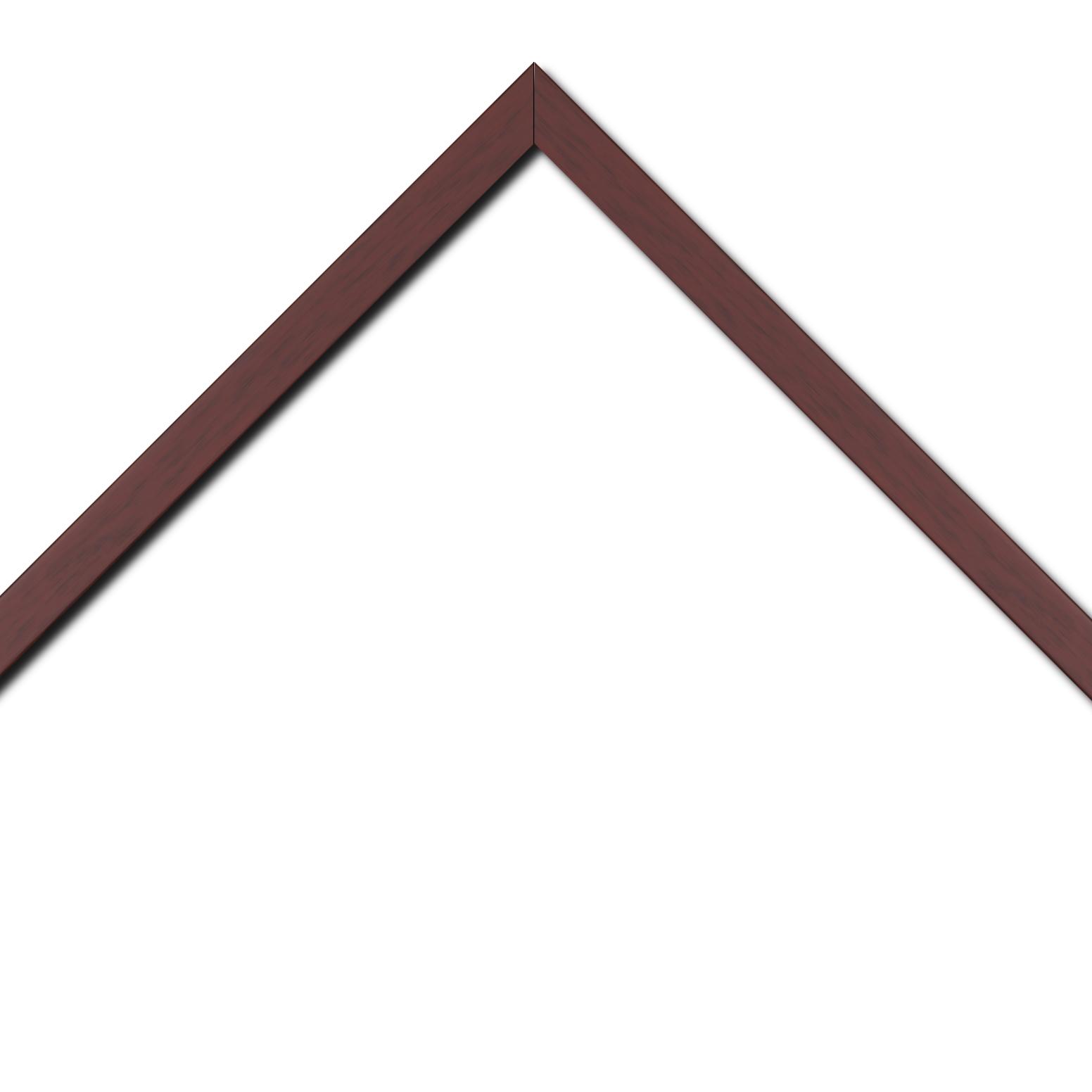 Baguette bois profil plat effet cube largeur 2cm couleur ton bois bordeaux