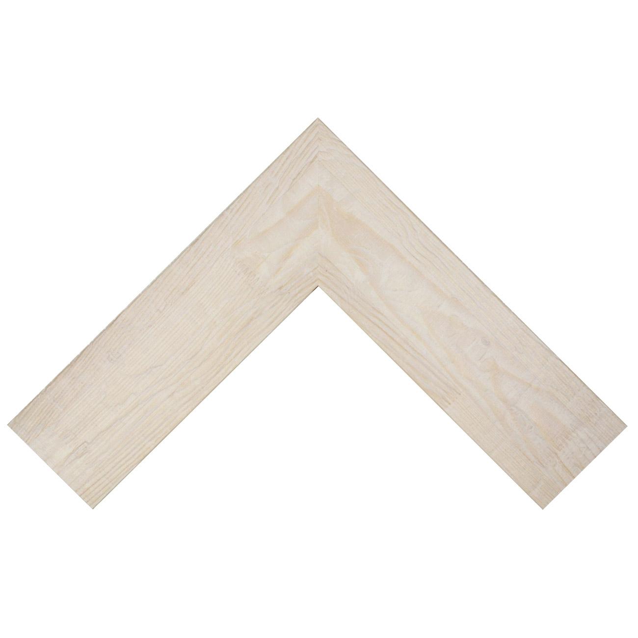 Baguette bois profil plat largeur 9.5cm couleur blanchie bois veiné