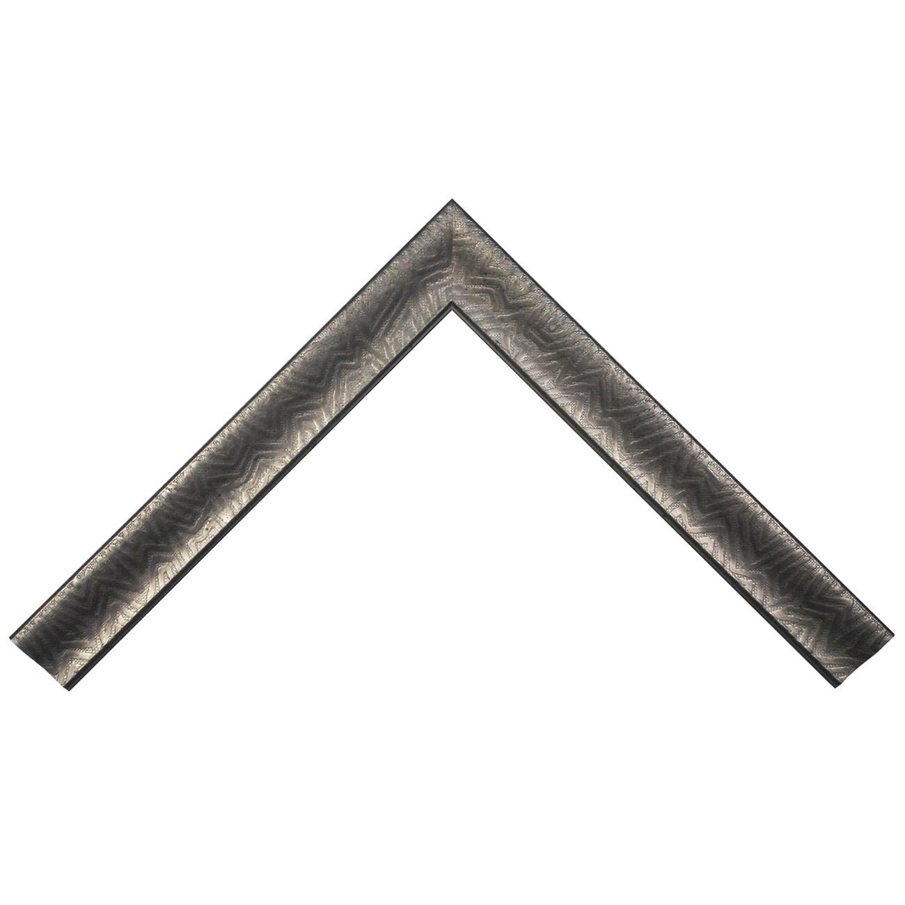 Baguette bois profil incurvé largeur 4.5cm plombs foncé finition aspect cuir