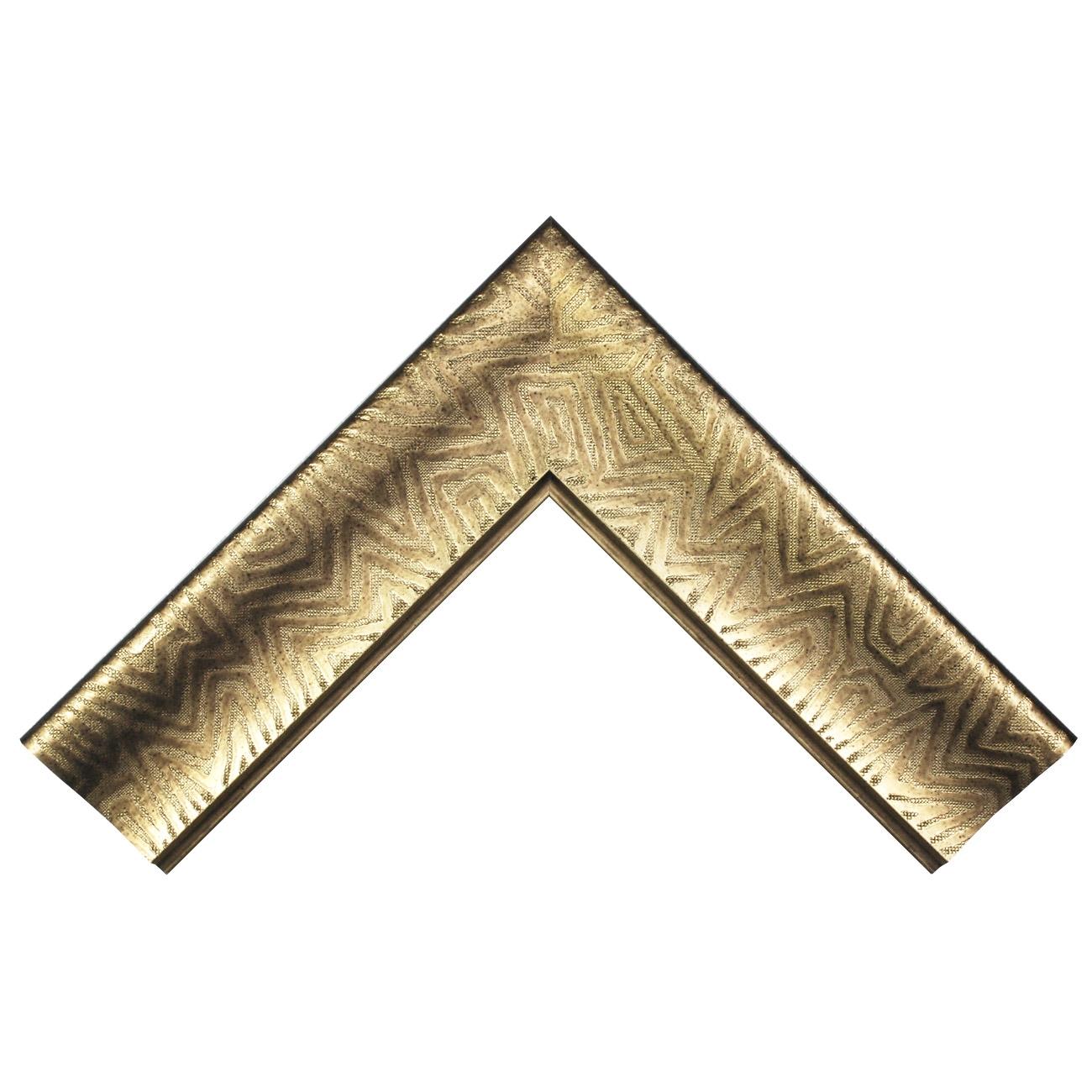Baguette bois profil incurvé largeur 9.4cm bronze finition aspect cuir