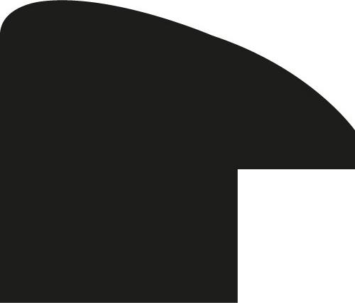 Baguette bois profil arrondi plongeant largeur 2.5cm couleur blanc satiné