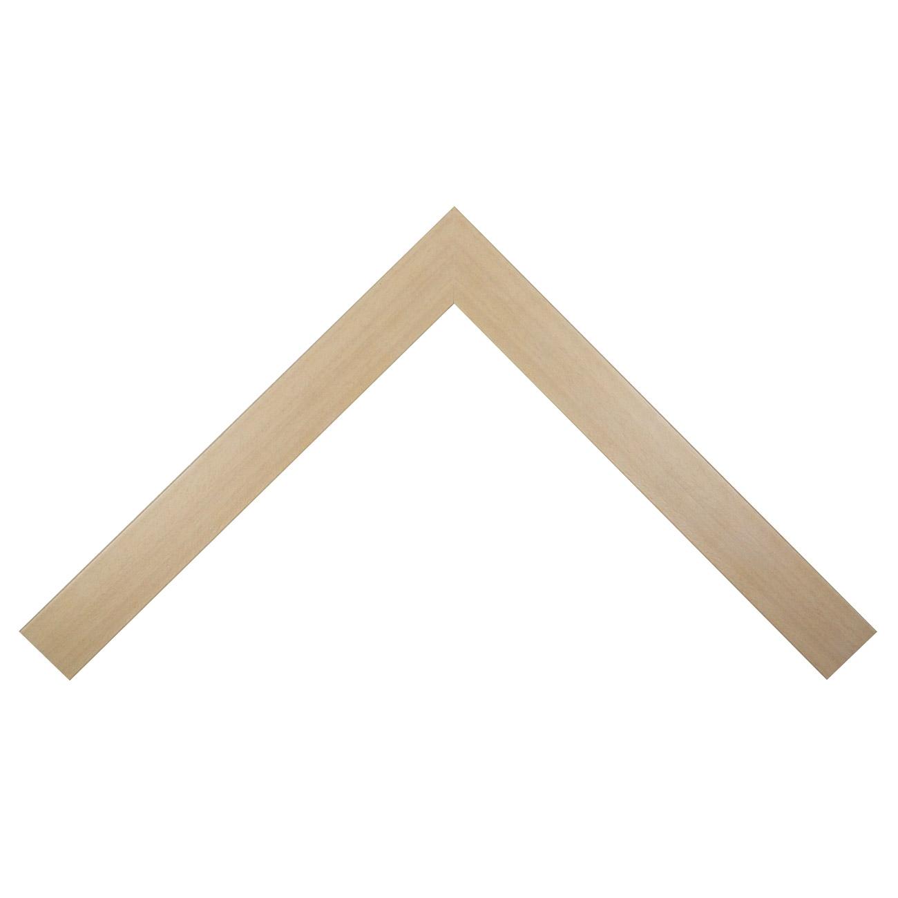 Baguette bois profil plat largeur 4.1cm couleur naturel crème satiné