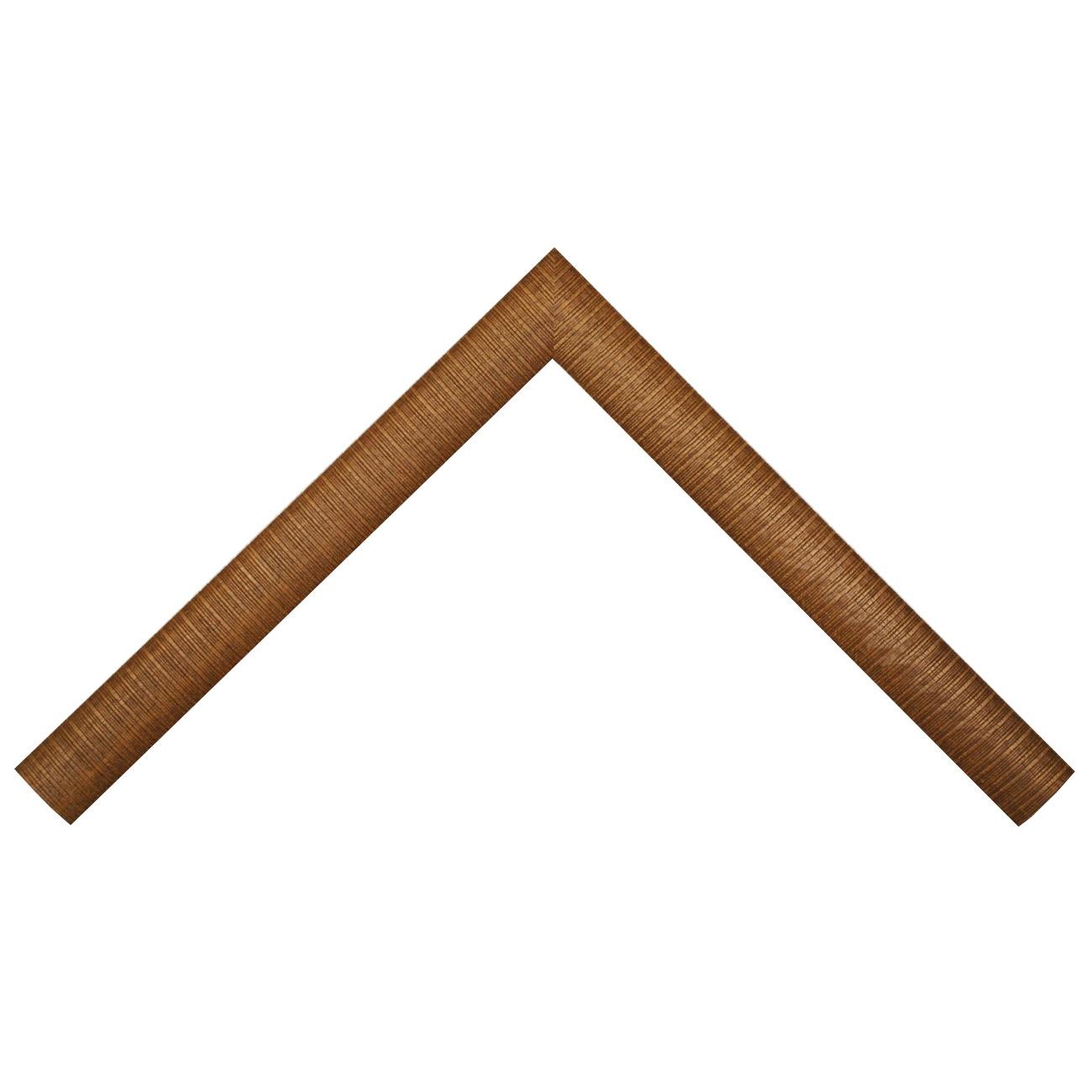 Baguette bois profil arrondi largeur 3.7cm couleur marron décor tresse