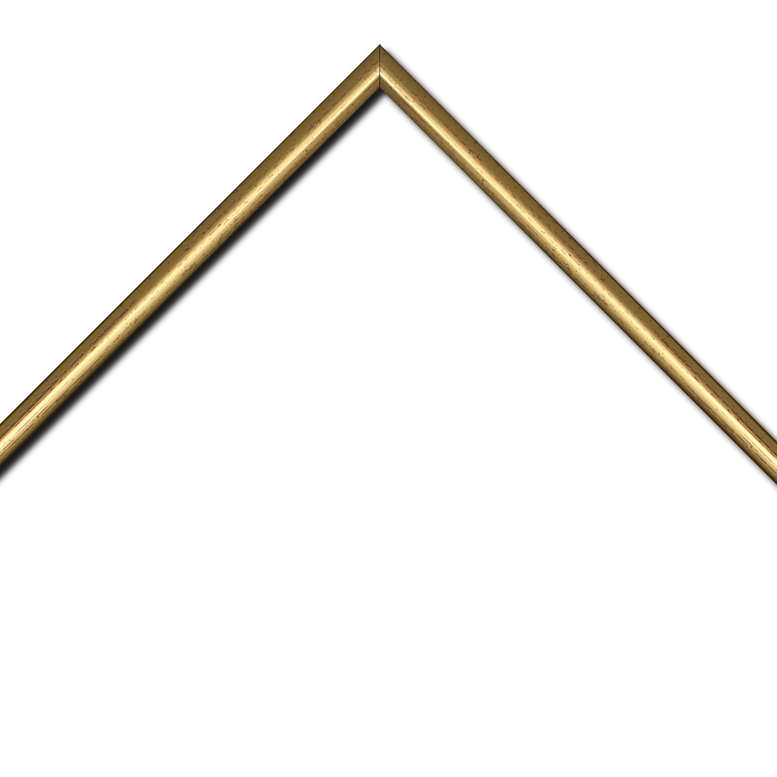 Baguette bois profil demi rond largeur 1.5cm couleur or