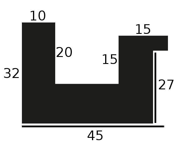 Baguette bois caisse américaine largeur 4.5cm naturel satiné  (spécialement conçu pour les supports rigides ne nécessitant pas de protection plexi ou autre : aluminium, dibon , pvc etc...le sujet se  colle sur le nez de feuillure du cadre ) profil en u