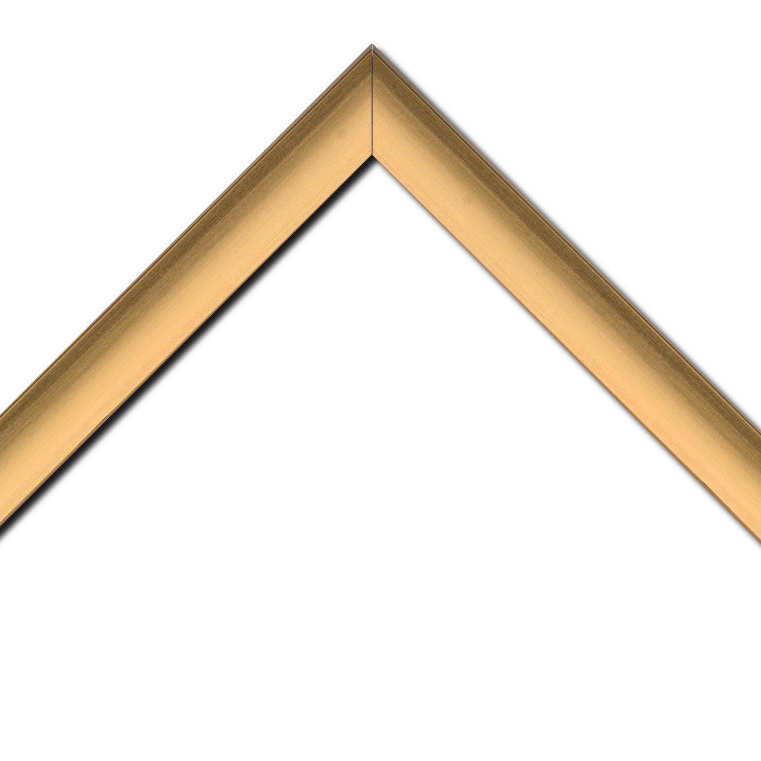 Baguette bois profil incliné en pente largeur 3.9cm or brossé