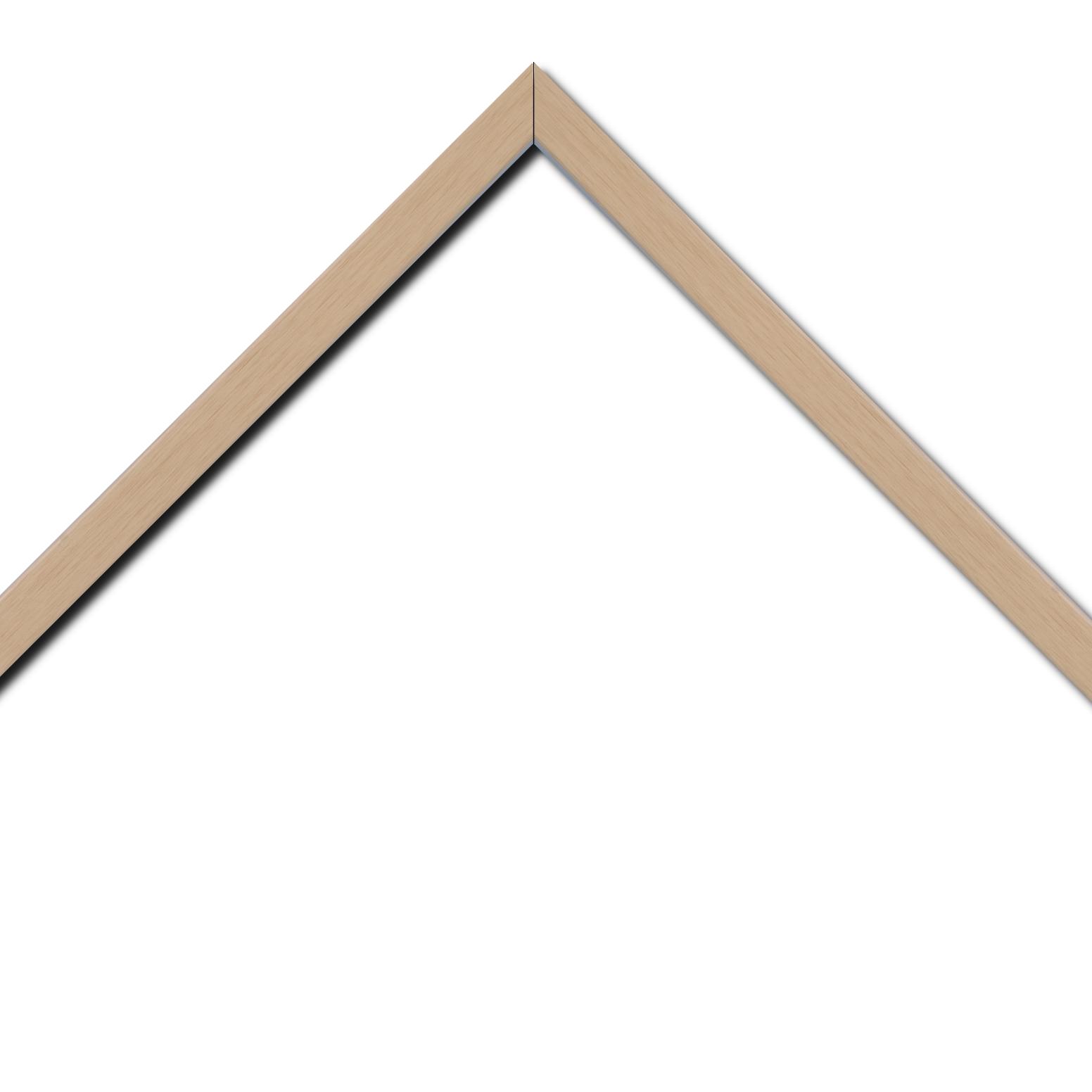 Baguette bois profil plat largeur 2cm ayous massif naturel (sans vernis, peut être peint...)