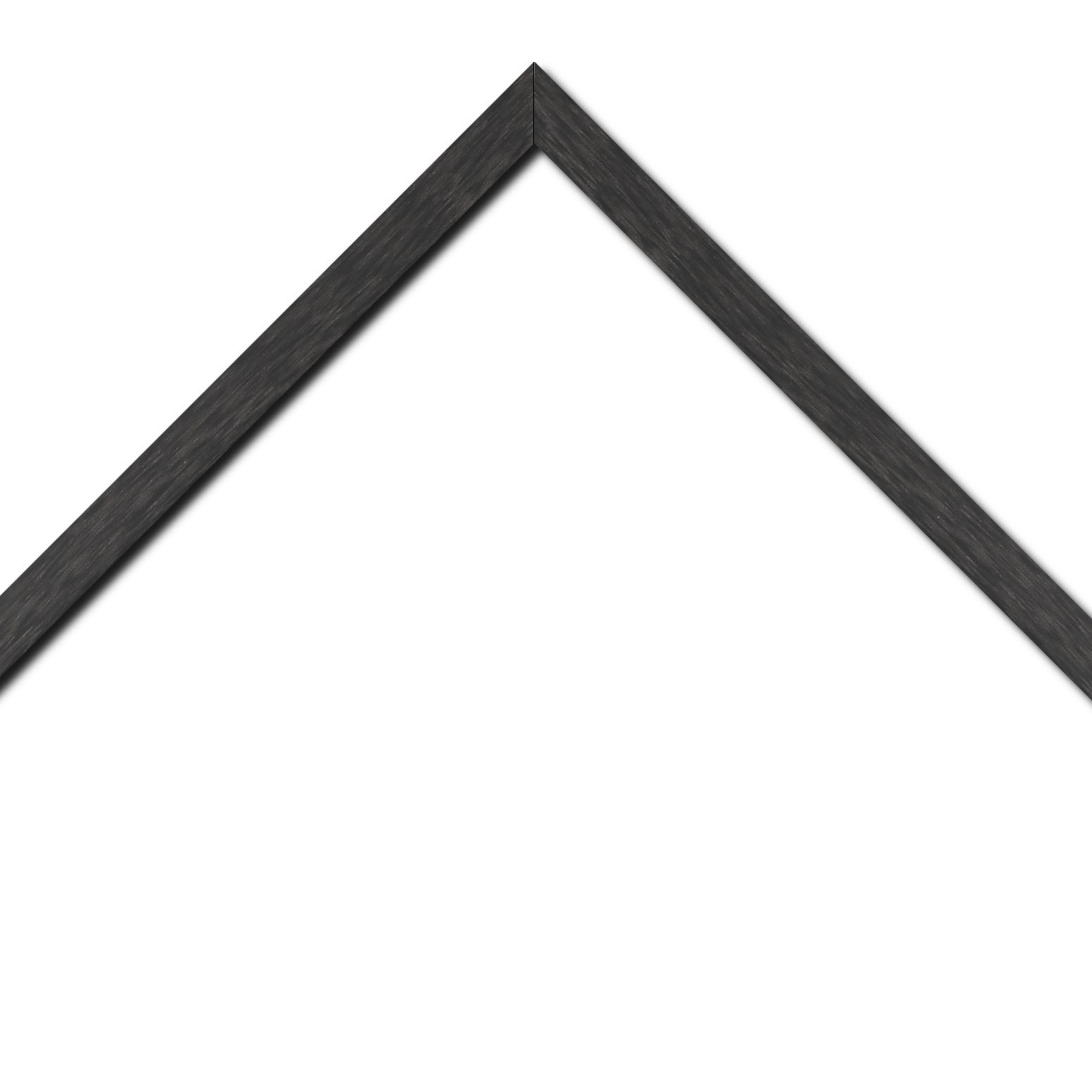 Baguette bois profil plat effet cube largeur 2cm couleur ton bois anthracite