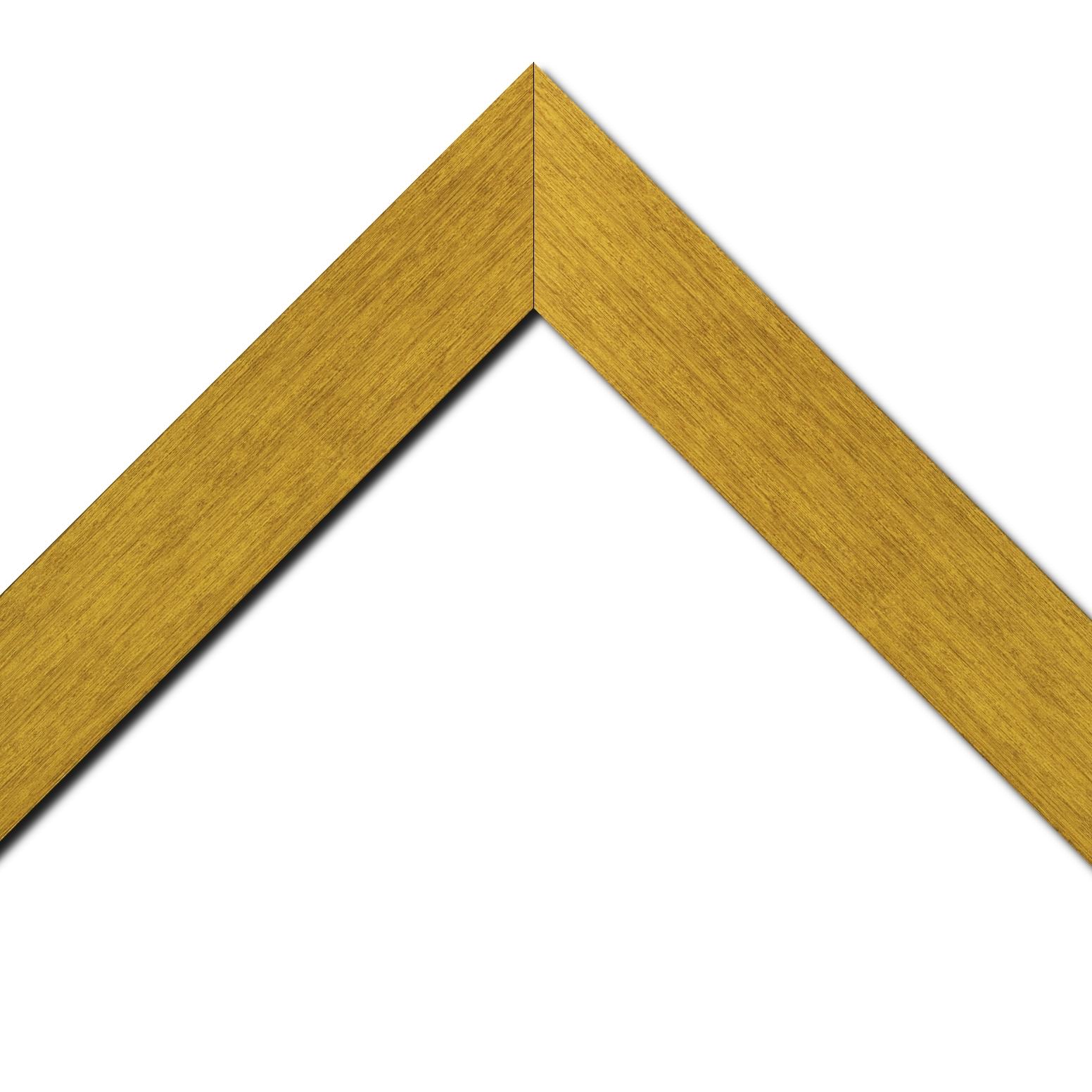Baguette bois profil plat largeur 6cm couleur or contemporain satiné haut de gamme