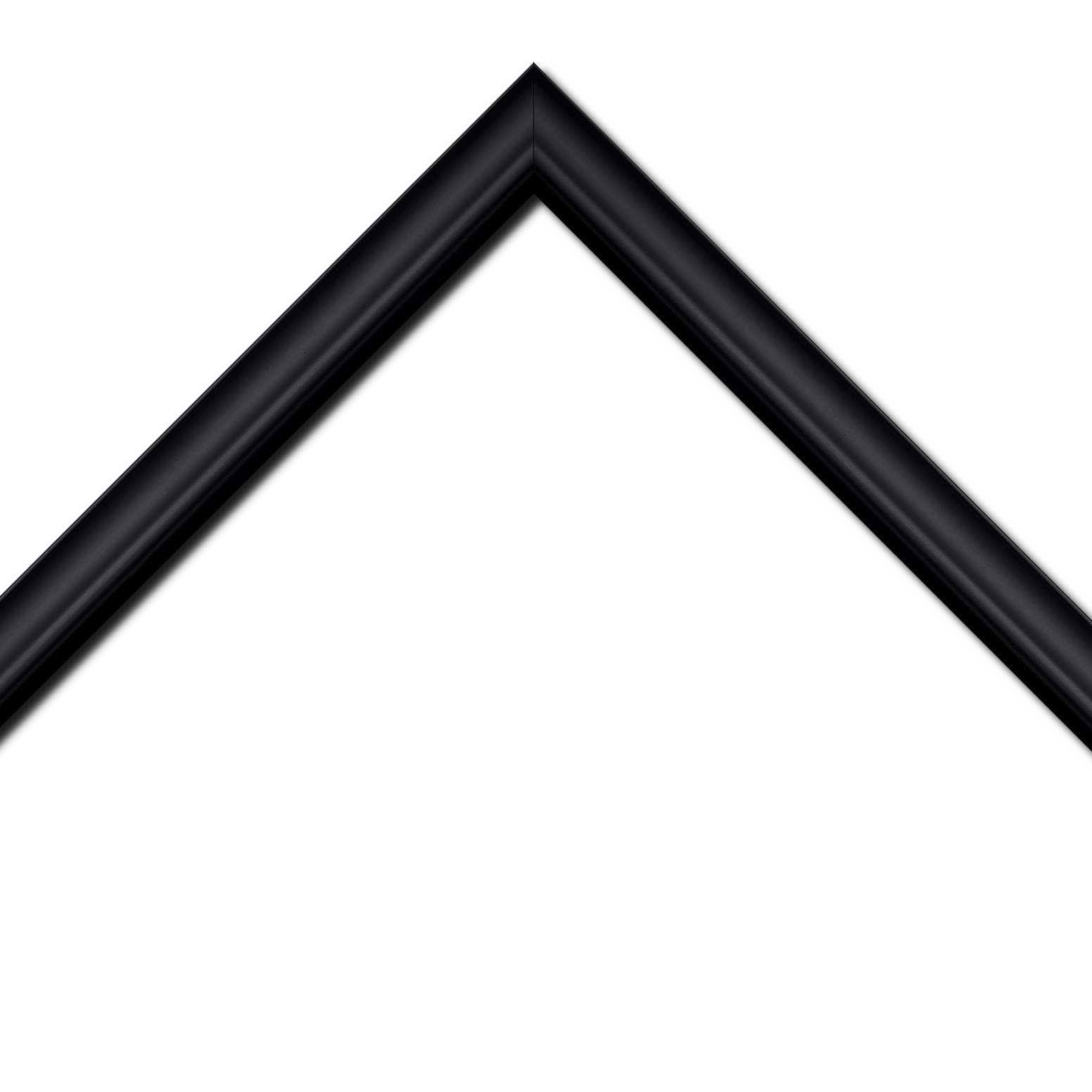 Baguette bois profil inversé largeur 3.2cm couleur noir mat finition pore bouché
