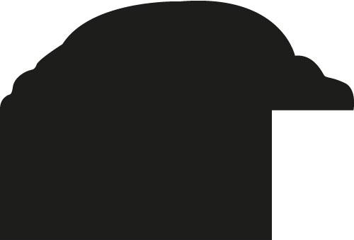 Baguette bois profil arrondi largeur 3.1cm marron satiné classique