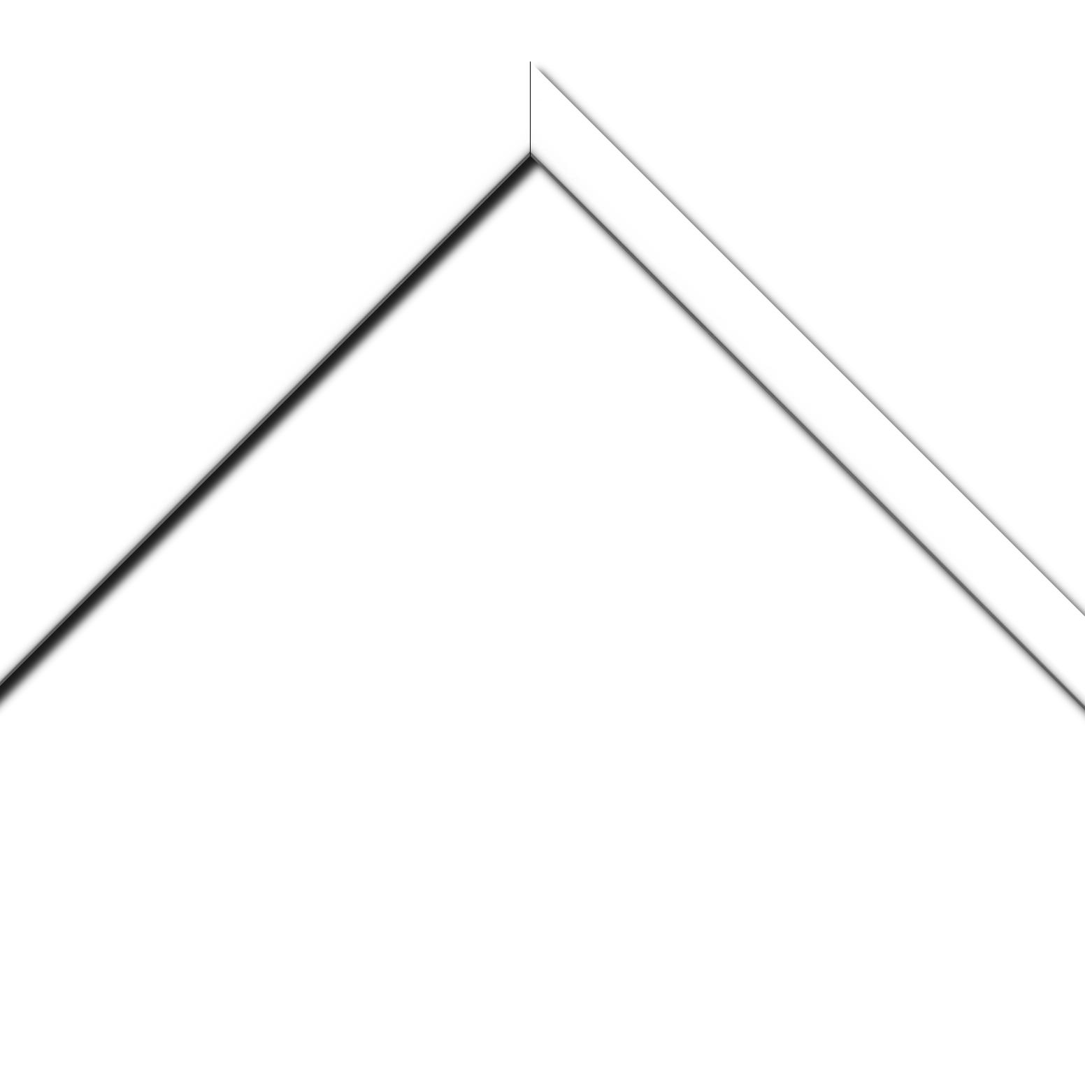 Baguette bois profil méplat largeur 2.3cm couleur blanc laqué