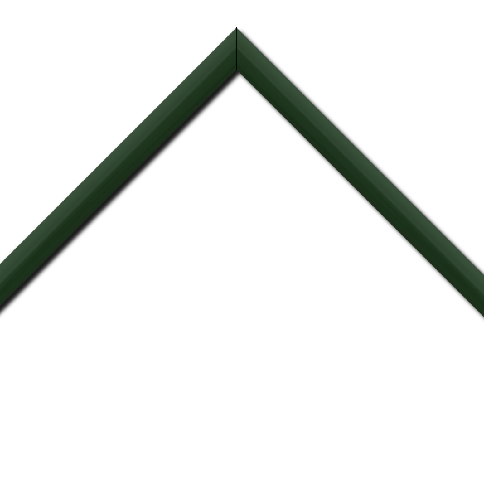 Baguette bois profil méplat largeur 2.3cm couleur vert anglais laqué