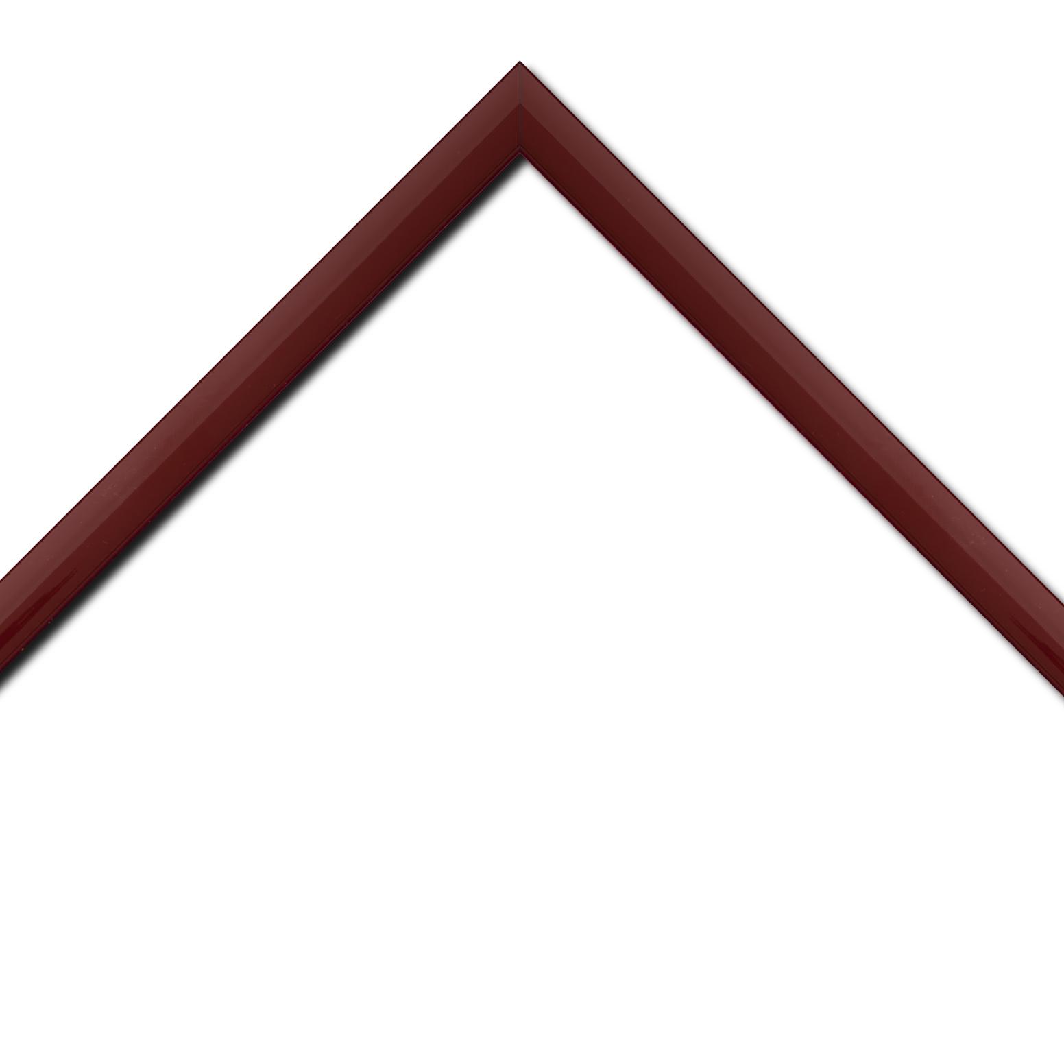 Baguette bois profil méplat largeur 2.3cm couleur bordeaux laqué