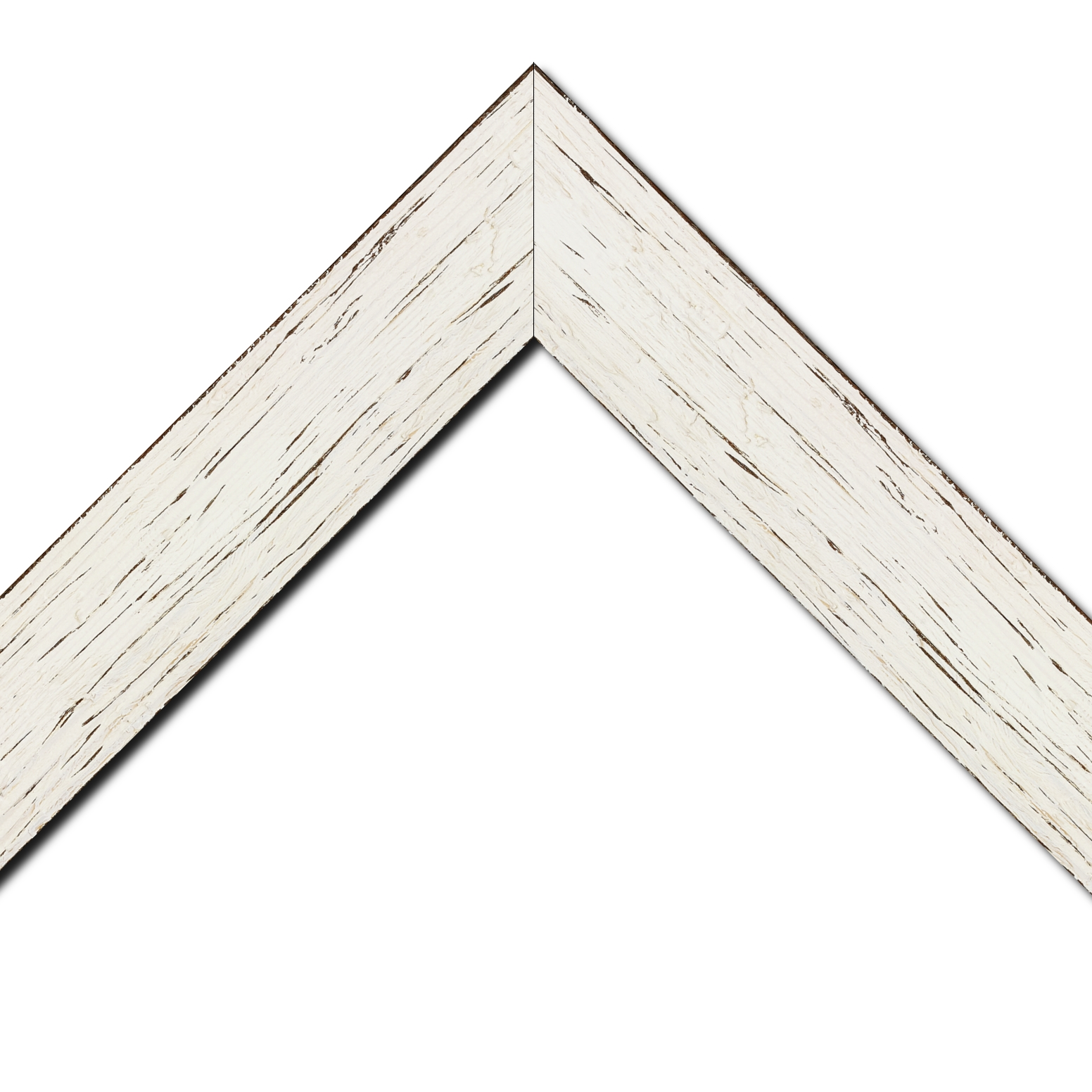 Baguette bois profil plat largeur 6.7cm couleur blanchie finition aspect vieilli antique