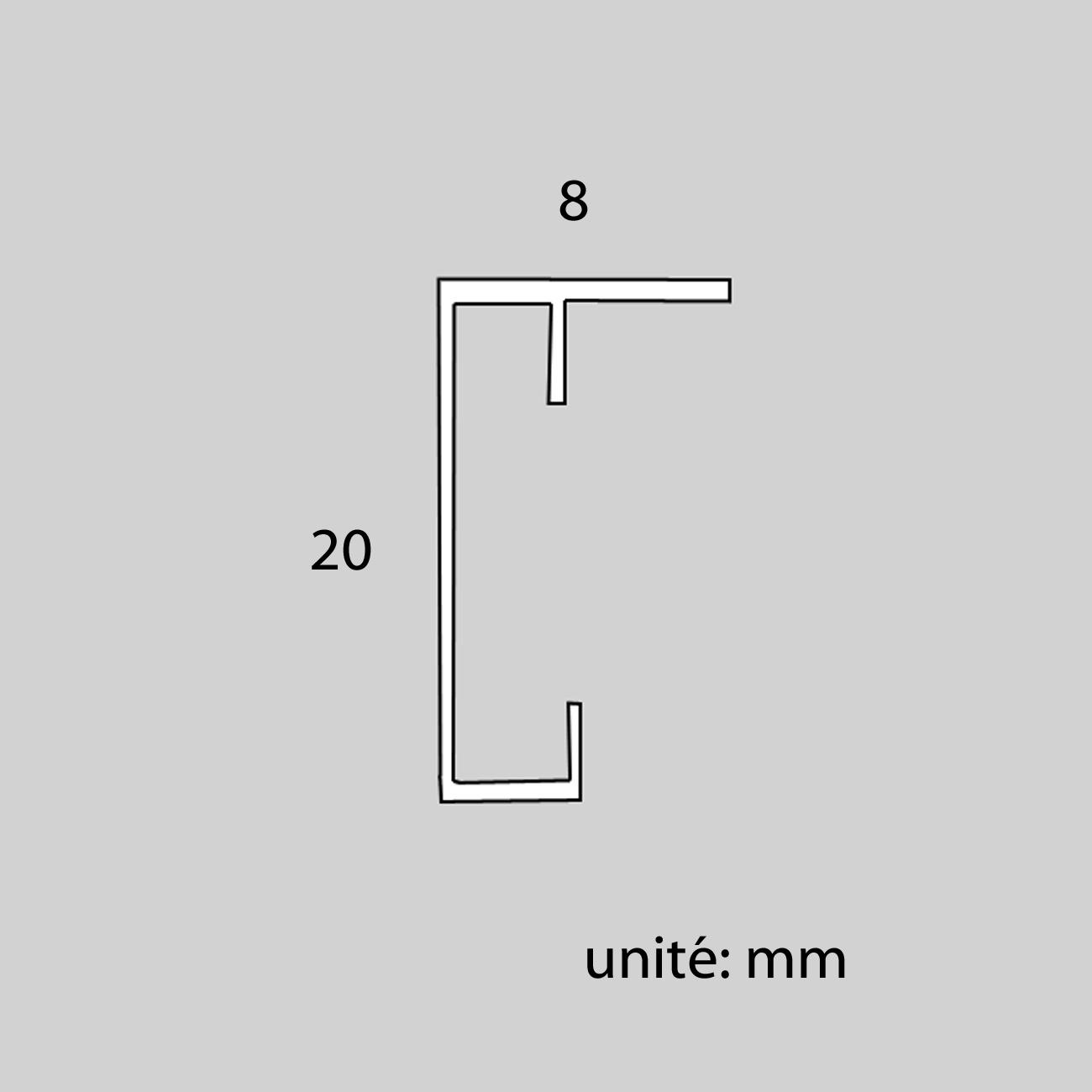 Cadre cadre complet de dimensions 20x20 cm, à suspendre. plexi une face normale, une face anti reflet. attache horizontale et verticale. montage et démontage rapide par ressort. fond en isorel. - 20x20