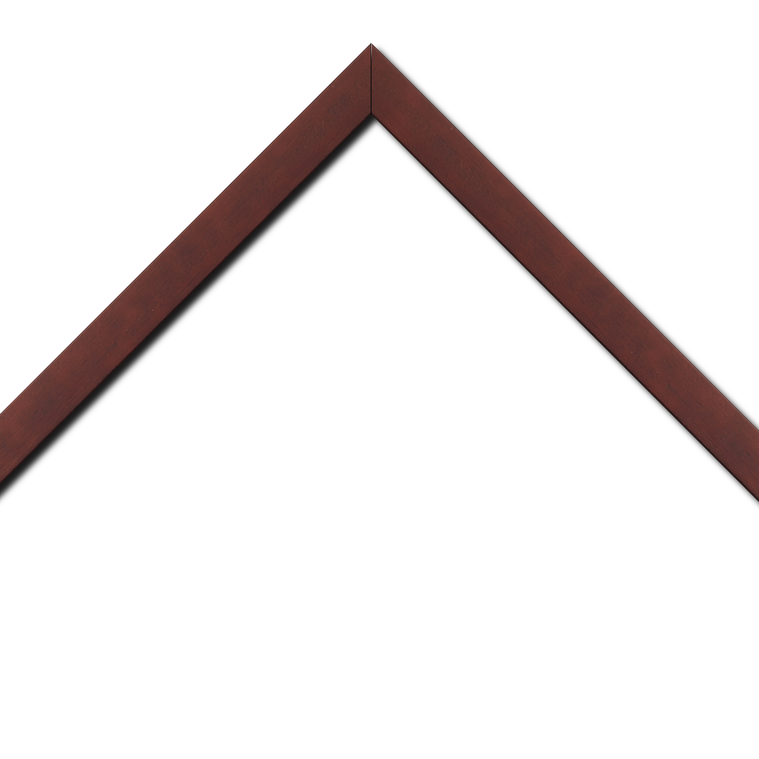 Baguette bois profil plat largeur 2.5cm couleur bordeaux satiné