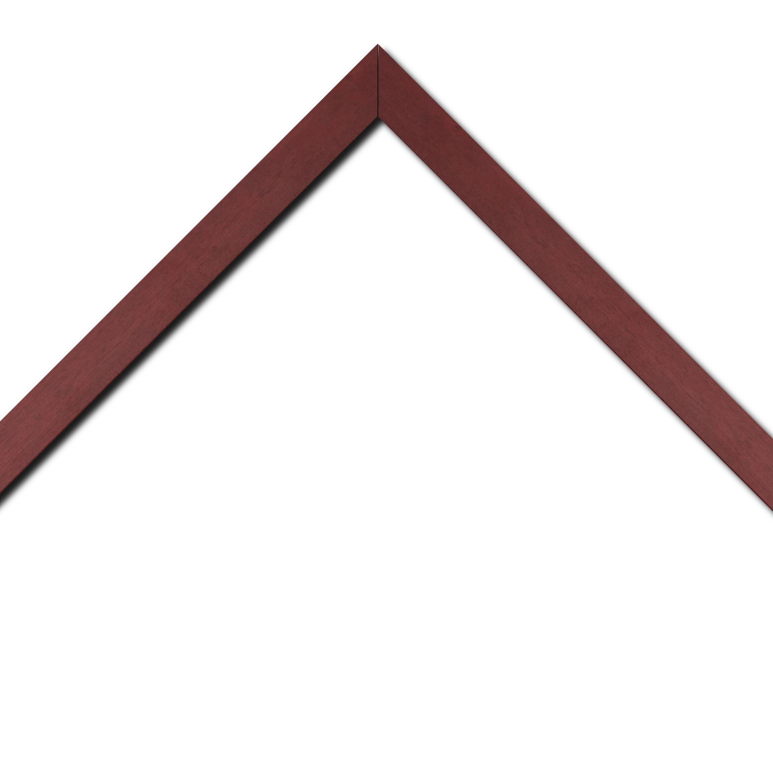 Baguette bois profil plat largeur 2.5cm couleur rose fushia satiné