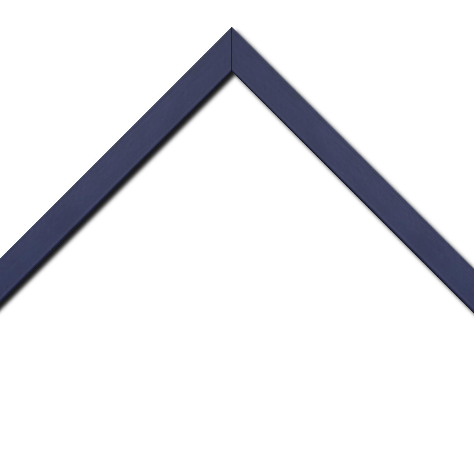 Baguette bois profil plat largeur 2.5cm couleur bleu matisse satiné