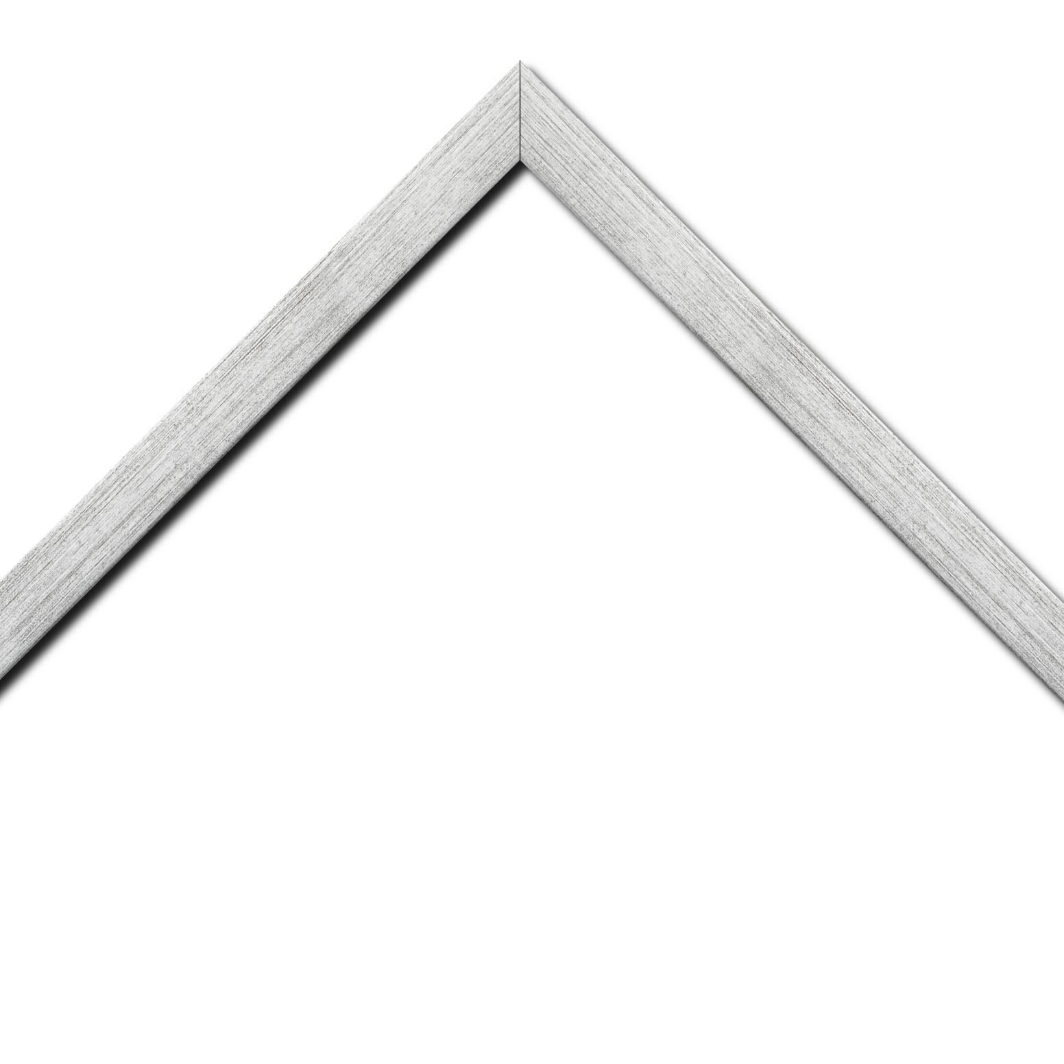 Baguette bois profil plat largeur 2.5cm couleur argent