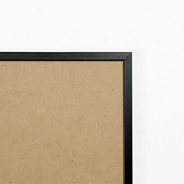 Cadre aluminium 8mm, noir mat