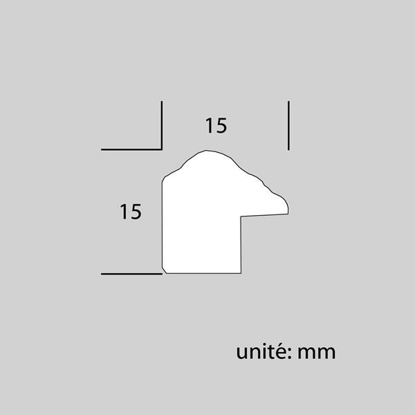 Cadre cadre bois profil arrondi largeur 15mm complet de couleur marron rustique filet or  dimensions 10x15 cm, à poser ou à suspendre horizontalement ou verticalement.   verre normal, mise en place du sujet dans le cadre simple et rapide, ouverture et fermeture du cadre par pointes flexibles. fond en isorel. - 10x15