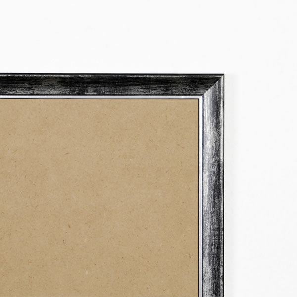 Cadre bois 19mm, noir fond argent