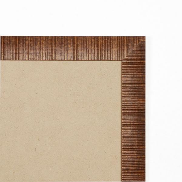 Cadre bois 30mm, marron strié