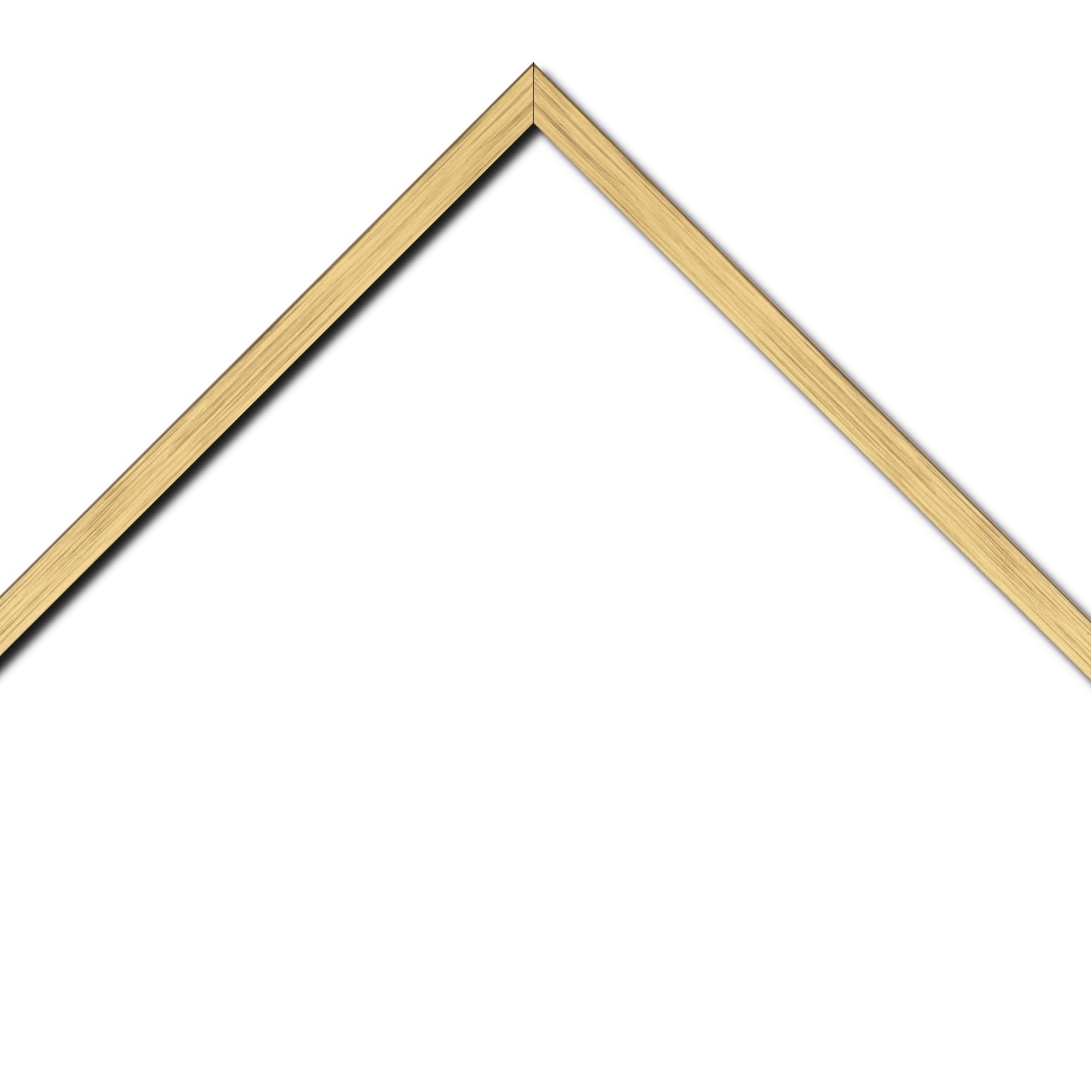Baguette bois profil plat largeur 1.5cm couleur or