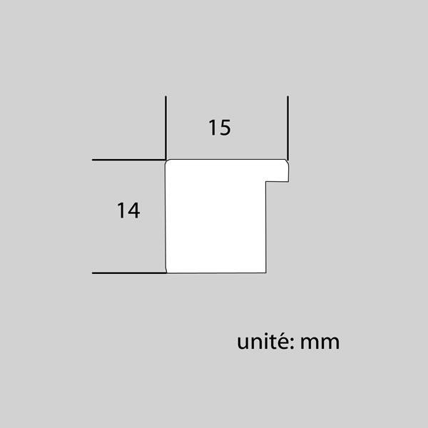 Cadre cadre résine profil plat largeur 15mm complet de couleur blanc satiné dimensions 15x20 cm, à poser ou à suspendre horizontalement ou verticalement.  verre normal, mise en place du sujet dans le cadre simple et rapide, fermeture du cadre par pointes flexibles. fond en isorel. - 15x20