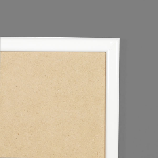 Cadre résine 15mm, blanc satiné