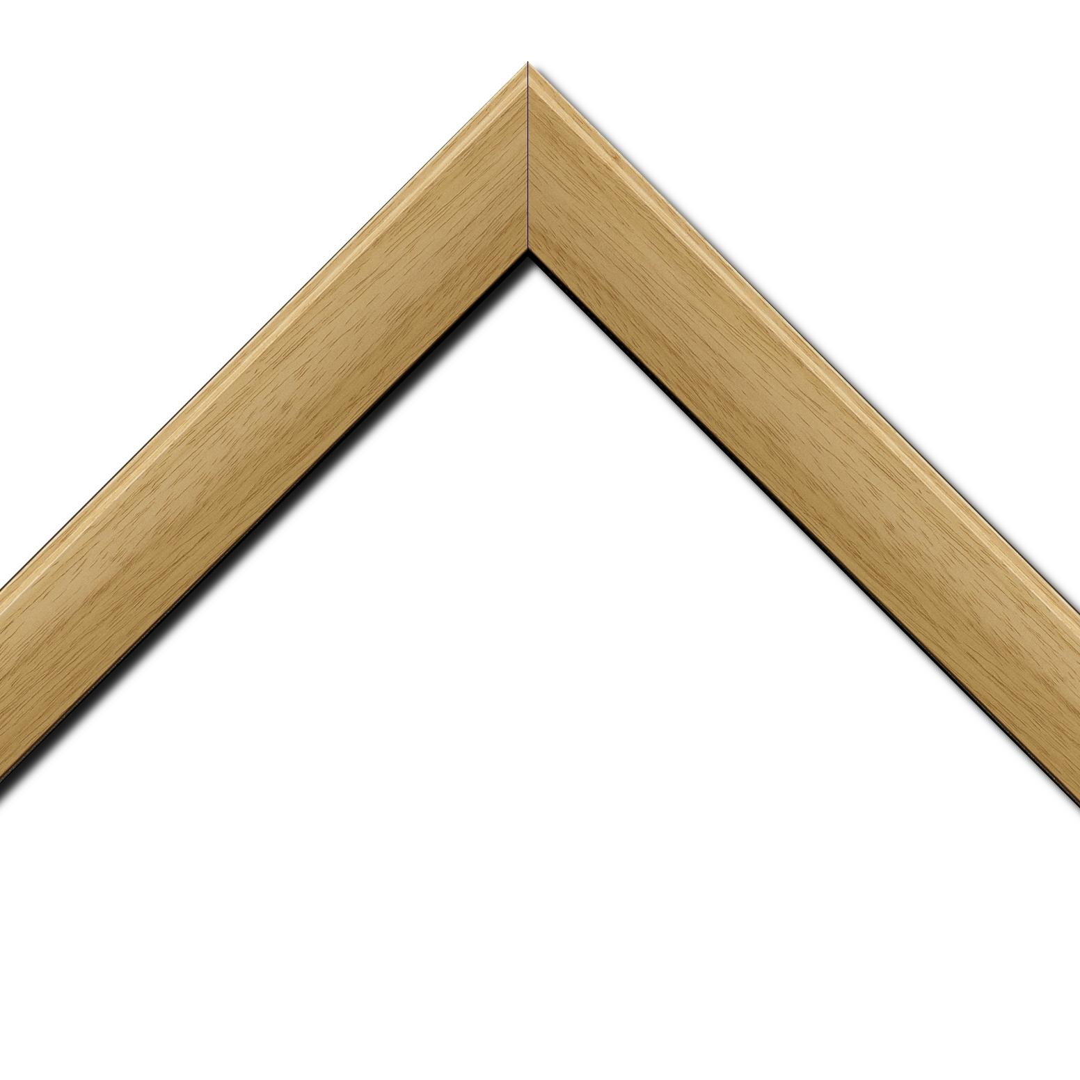 Baguette bois profil en pente méplat largeur 4.8cm ayous massif naturel (sans vernis, peut être peint...)