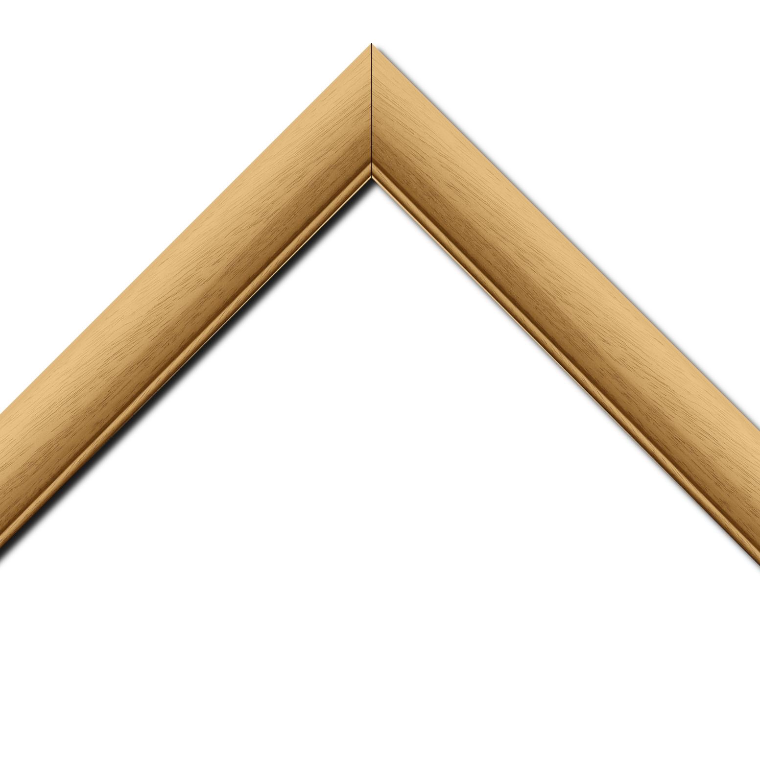 Baguette bois profil arrondi largeur 4.7cm couleur naturel satiné