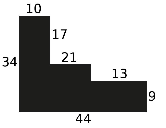 Caisse bois caisse américaine profil escalier largeur 4.4cm noir mat filet blanc (spécialement conçu pour les châssis d'une épaisseur jusqu'à 2.5cm ) - 15x20