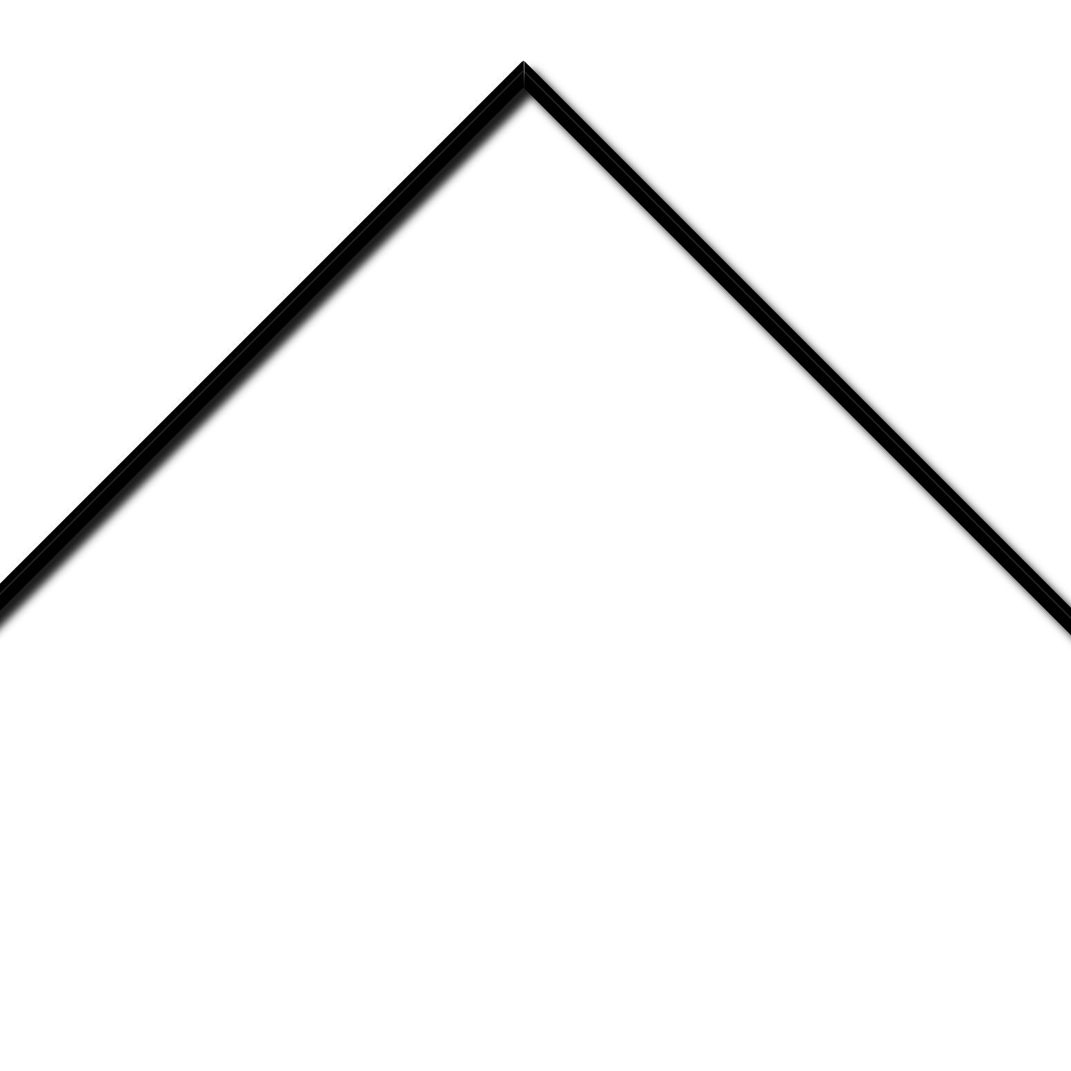 Baguette aluminium profil plat largeur 7mm, couleur noir satiné ,(le sujet qui sera glissé dans le cadre sera en retrait de 9mm de la face du cadre assurant un effet très contemporain) mise en place du sujet rapide et simple: assemblage du cadre par double équerre à vis (livré avec le système d'accrochage qui se glisse dans le profilé) encadrement non assemblé,  livré avec son sachet d'accessoires