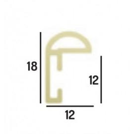 Cadre cadre pvc dimensions 40x50cm profil arrondi de largeur 1,2cm épaisseur 1,8cm de couleur or poli complet (verre normal + isorel + système accrochage par les tournettes) mise en place du sujet dans le cadre très rapide (maintien du fond isorel dans le cadre par tournettes rivetées) cadre livré unitairement sous film de protection. - 40x50