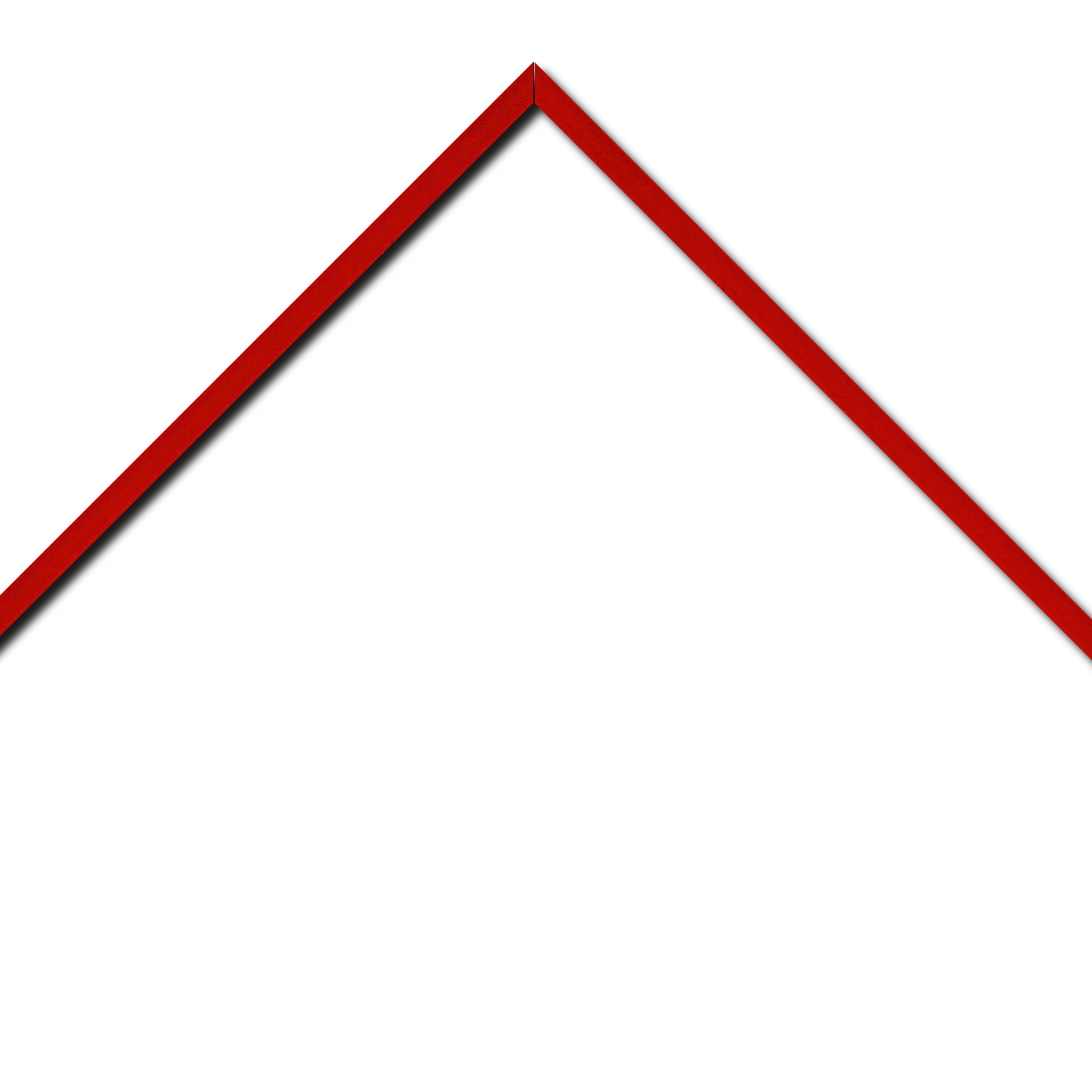 Baguette aluminium profil plat largeur 1cm couleur rouge ferrari satiné (mise en place du sujet très rapide et très simple,sans démontage du cadre car angles sertis ) encadrement livré monté prêt à l'emploi (cadre fabriqué à vos mesures dans nos ateliers de besançon)