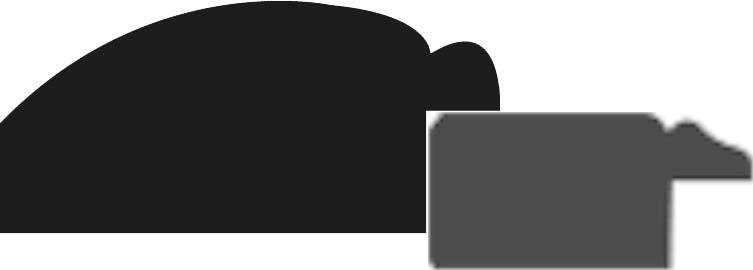 Baguette bois profil arrondi largeur 4.7cm couleur vert sapin satiné rehaussé d'un filet noir + bois profil plat marie louise largeur 2.5cm couleur crème filet crème (largeur totale du cadre 6.4cm)