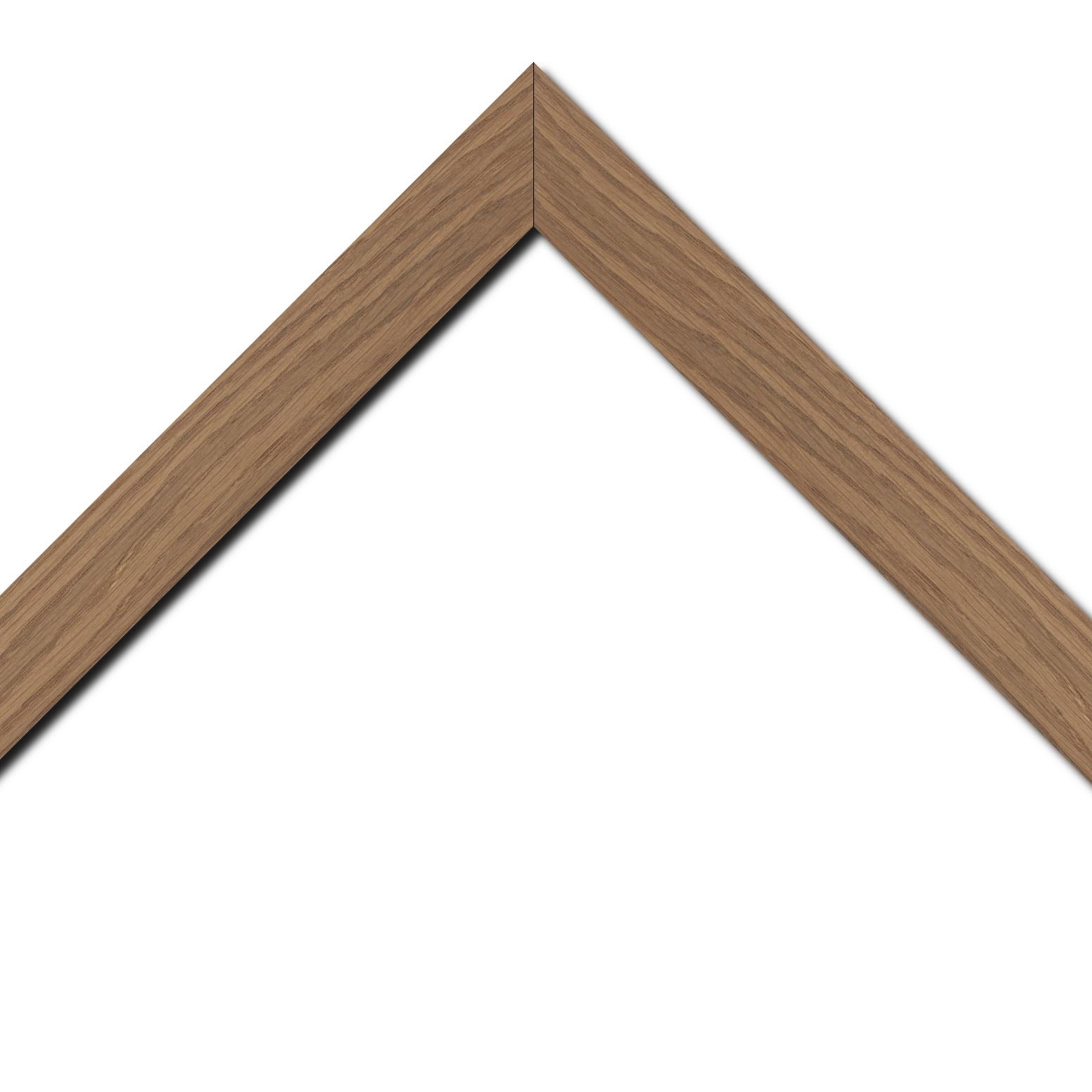 Baguette bois profil plat largeur 4cm chêne massif naturel (non vernis)
