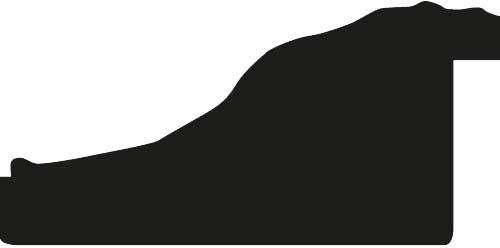 Baguette bois profil inversé largeur 7cm couleur noir ancien décor plissé filet vermeille boule