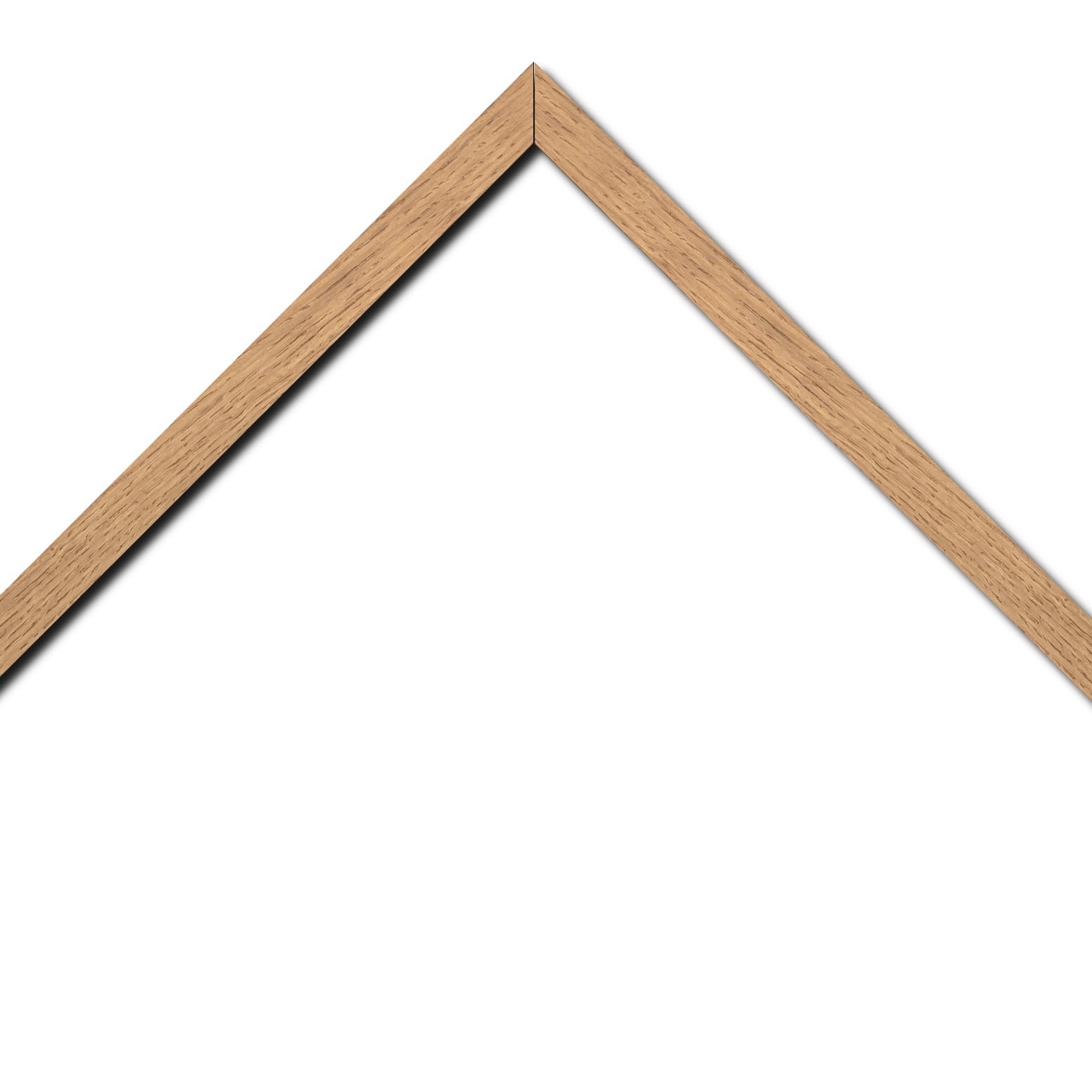 Baguette bois profil plat largeur 2cm chêne massif naturel (non vernis)