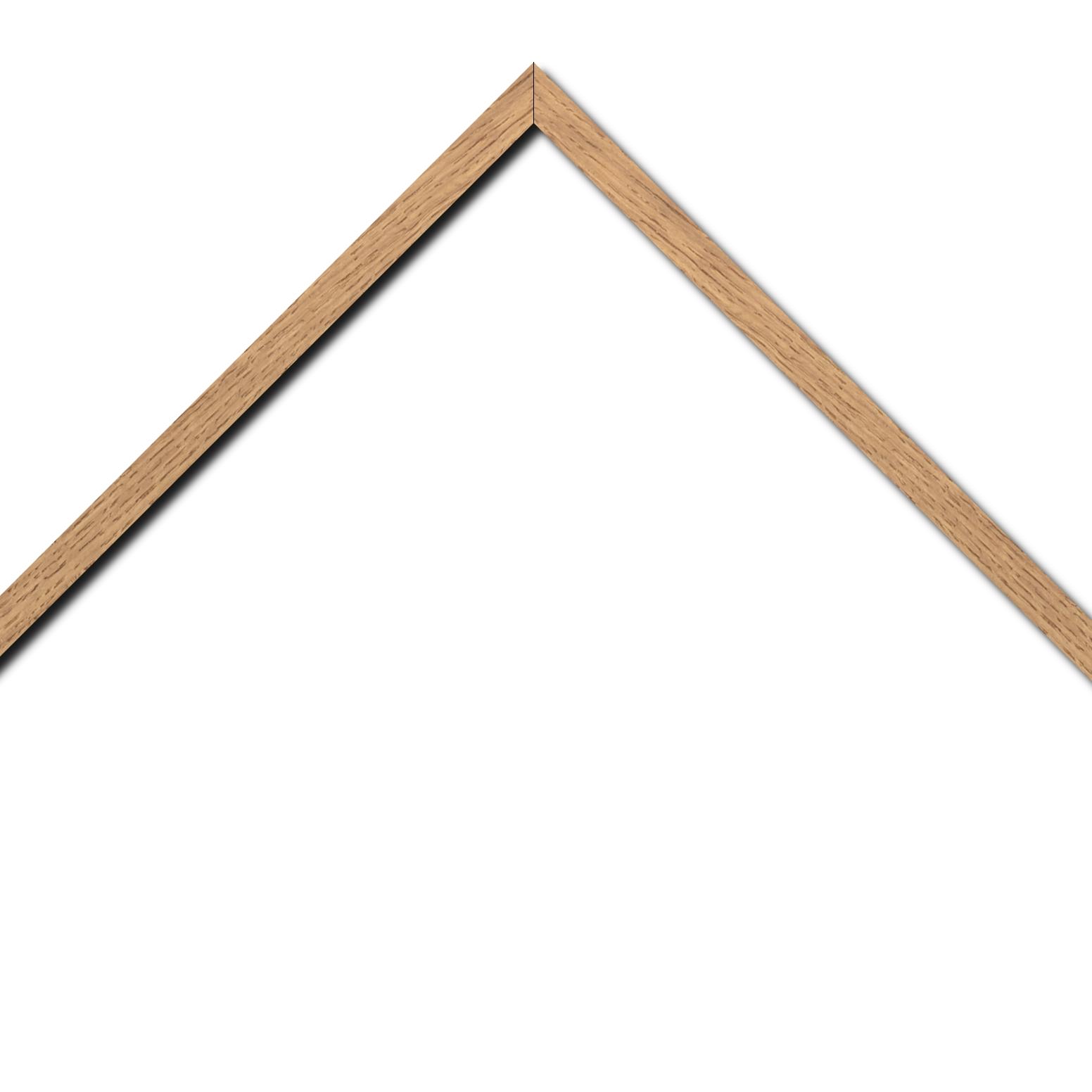 Baguette bois profil plat largeur 1.5cm chene massif naturel (non vernis)