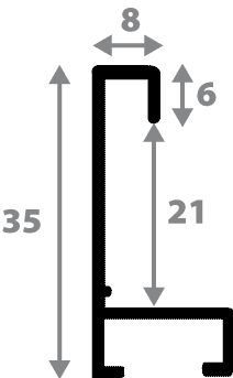 Cadre aluminium profil plat largeur 8mm, placage véritable bouleau ,(le sujet qui sera glissé dans le cadre sera en retrait de 6mm de la face du cadre assurant un effet très contemporain) mise en place du sujet rapide et simple: il faut enlever les ressorts qui permet de pousser le sujet vers l'avant du cadre et ensuite à l'aide d'un tournevis plat dévisser un coté du cadre tenu par une équerre à vis à chaque angle afin de pouvoir glisser le sujet dans celui-ci et ensuite revisser le coté (encadrement livré monté prêt à l'emploi ) - 15x21