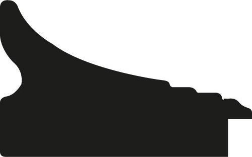 Baguette bois profil incurvé largeur 8cm couleur blanchie