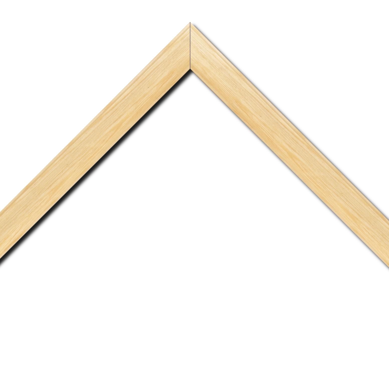 Baguette bois profil inversé largeur 3.2cm sur pin teinté naturel