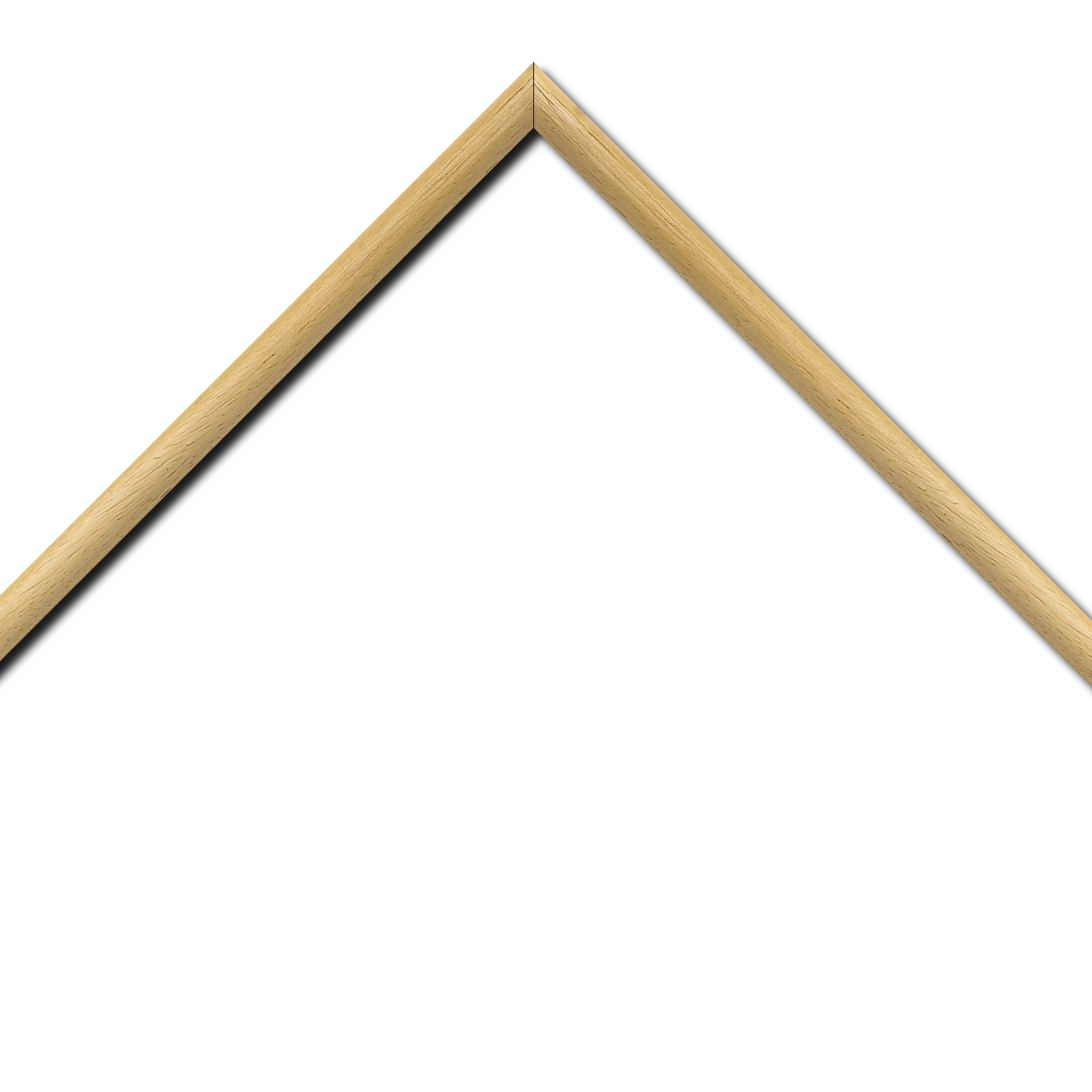 Baguette bois profil demi rond largeur 1.5cm couleur naturel satiné