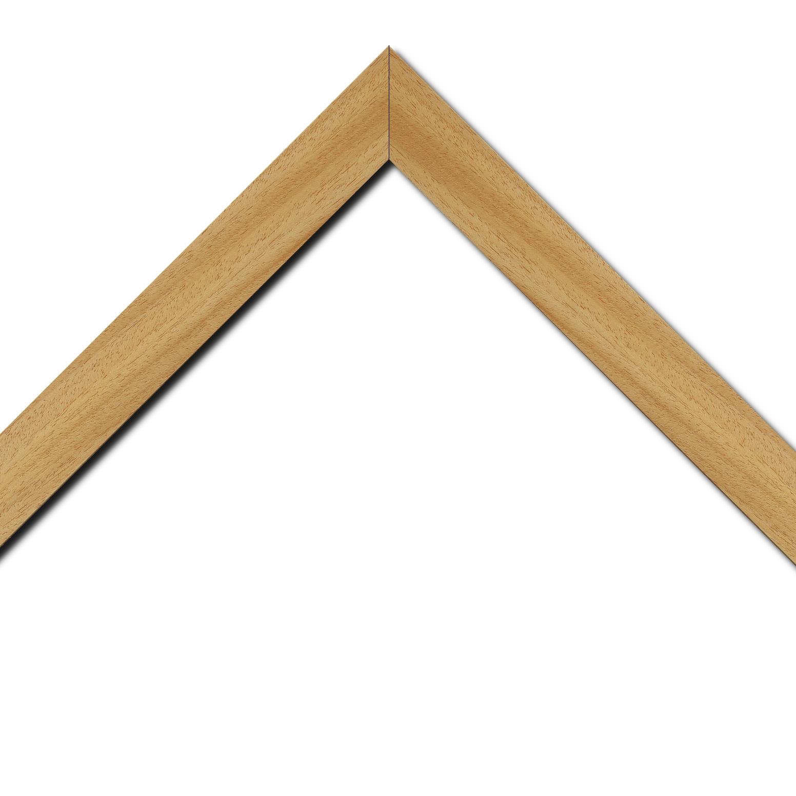 Baguette bois profil plat largeur 3.8cm ayous massif naturel (sans vernis,peut être peint...)