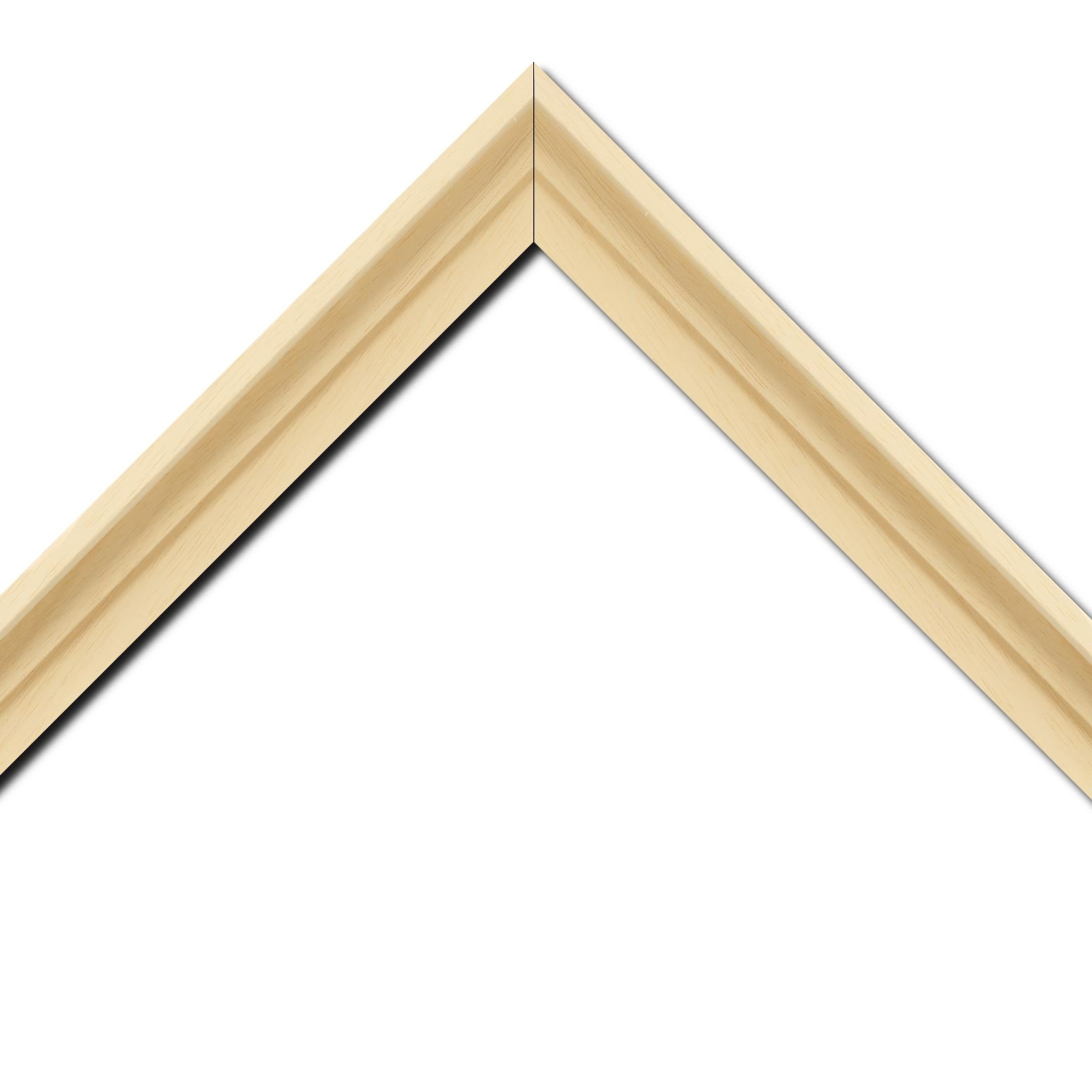Baguette bois caisse américaine profil escalier largeur 4.4cm naturel (spécialement conçu pour les châssis d'une épaisseur jusqu'à 2.5cm ) sans vernis,peut être peint...